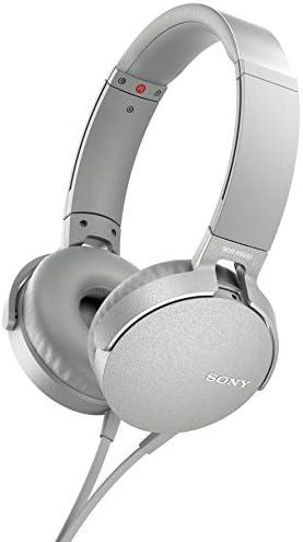Sony XB550AP Extra Bass On-Ear Headphones White, 2017 Model