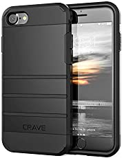 iPhone 8 Case, iPhone 7 Case, Crave Strong Guard Protection Case for Apple iPhone 8/7 (4.7 Inch) - Black iPhone 8 Case