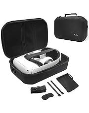 ProCase Hard Travel Case for Oculus Quest 2 VR Gaming Headset, Controllers Accessories Shockproof EVA Hard Shell Carrying Case Storage Bag with Shoulder Strap, Also Fits Elite Strap –Black