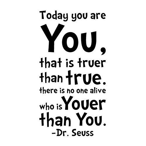 Dr Seuss Wall Decals - MLM Dr Seuss Today You Are
