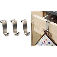 3 x OVER KITCHEN CABINET AND DRAW HOOKS - fits draws up to 2cm wide - FREE DELIVERY