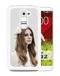 Hot Sale LG G2 Case,Lana Del Rey White LG G2 Screen Phone Case Durable and Cool Design