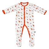 Kyte BABY Footies - Baby Footed Pajamas Made Soft Organic Bamboo Material - 0-24 Months - Printed Colors (3-6 Months, Tropical)