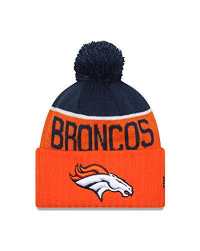New Era Denver Broncos 2015 Sport Knit Cuffed Pom Knit Cap/Beanie