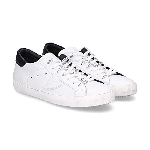 Sneakers In Pelle Bianca Modello Philippe Uomo Clluv003