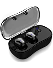 Syllable True Wireless Bluetooth Headphones, In-ear Sport Running Headset with Microphone and Charging Box HIFI Sound Sweatproof for Smartphone