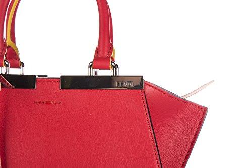 Fendi sac à main femme en cuir mini 3jours rouge