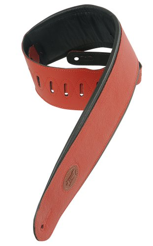 Levy's Leathers MSS2-4-RED 4 Garment Leather Signature Series Guitar Strap,Red