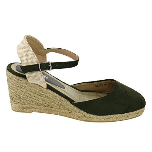Linea Color Crema in Pelle con Zeppa Cinturino alla Caviglia Donna Con Dettaglio A FIOCCO. NUOVO. Taglia 5