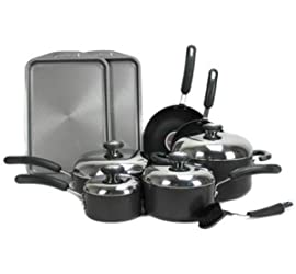 Circulon 83580 13-Piece Stainless Steel Non Stick Cookware Set Kitchen Pans Pots