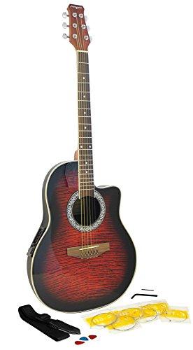 Martin Smith R202-RD Roundback Gitarre mit EQ Preamp rot