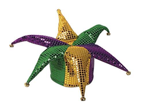 Mardi Gras Jester Hat (Adult sized Glitz 'N Gleam Jester Hat - Mardi Gras)