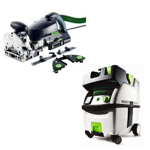 Festool PI574447 Domino XL Joiner Set with CT MIDI HEPA 3.3 Gallon Mobile Dust Extractor by Festool