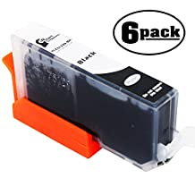 6-Pack Replacement Canon PIXMA MX712 Printer Black Ink Cartridge - Compatible Canon CLI-226 Black Ink Tank (Canon 226)