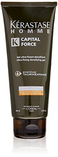 Kerastase Homme Capital Force Ultra-Fixing Densifying Gel for Men, 6.76 Ounce (Homme Gel)