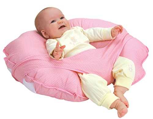 Leachco Cuddle-U Basic Nursing Pillow and More, Pink Pin Dot