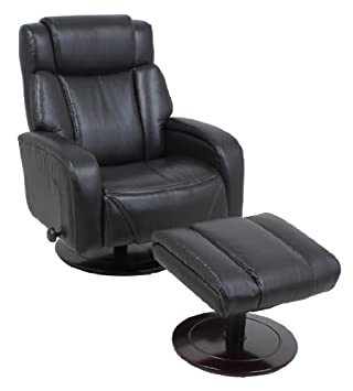 Global Furniture 8422 Leather Recliner With Ottoman