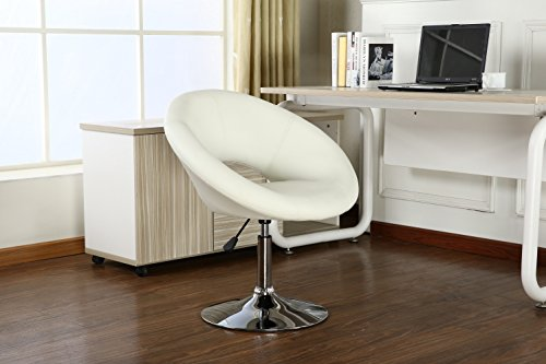 Roundhill Furniture Contemporary Chrome Adjustable Swivel