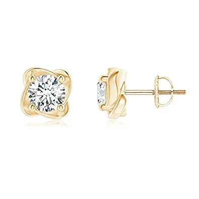 Angara Solitaire Round Diamond Pinwheel Stud Earrings kEArP8FcN