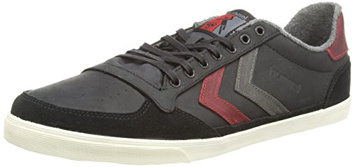 Hummel Slimmer Stadil Oiled - Zapatillas de otra piel para hombre negro - Black (Black/Ribbon Red/Castle Rock)