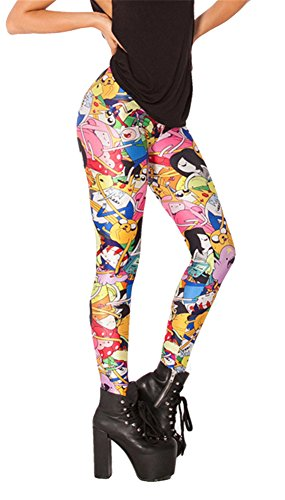 Zanuce Women's Designed Digital Print Sexy Stretch Leggings(Adventure Time Bro Ball)