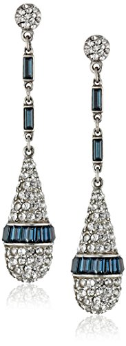 Ben Amun Dangling Earrings - Ben-Amun Jewelry Swarovski Crystal Drop Earrings for Bridal Wedding Anniversary