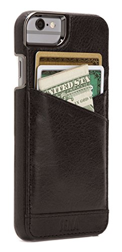 - Sena Lugano Wallet, Leather wallet snap on case for iPhone 6 PLUS / 6s PLUS - Black