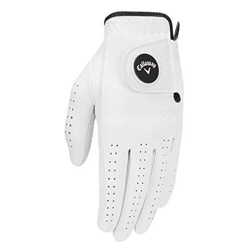 Opti Ball - Callaway Men's Opti Flex Golf Glove, White, Cadet Medium/Large, Worn on Left Hand