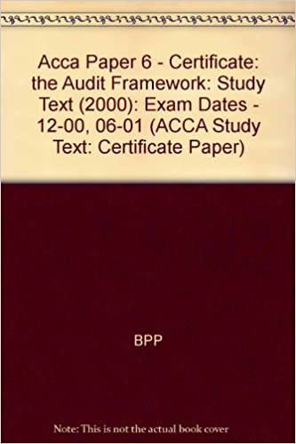 ACCA Paper 6 - Certificate: the Audit Framework: Exam Dates