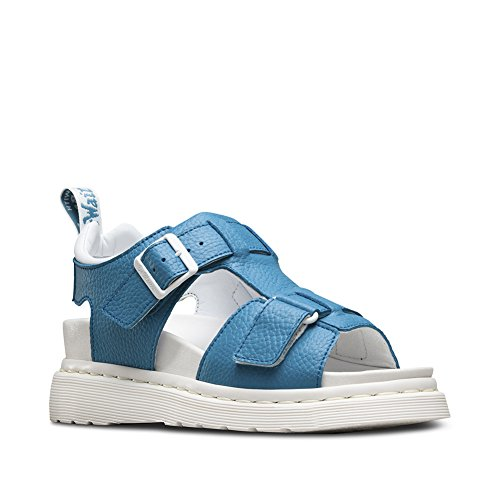 Dr. Martens Women's Kamilah Adjustable 2 Strap Sandals, Blue, Leather, 7 M UK, 9 M US Adjustable Strap Adult Sandals