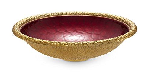 Julia Knight 7230340 Florentine Gold Large Round Bowl One Size ()
