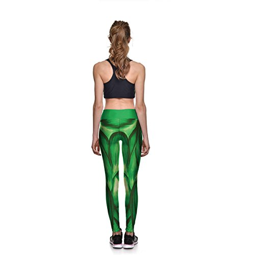 Femmes Filles Dames Impression Numérique Workout Leggings Stretch Yoga Pantalon Collants De Course Active