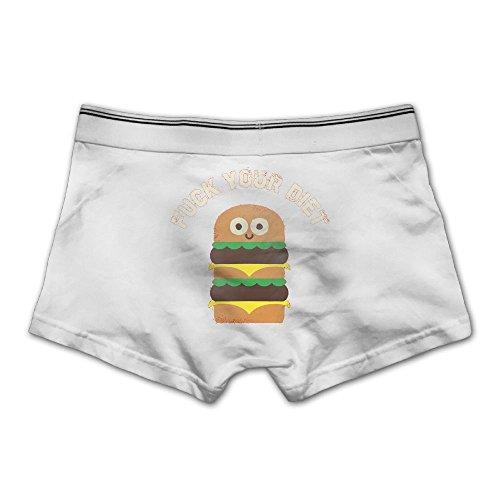 Mokjeiij Fck Your Diet Men's Ultra-fast-drying Boxer Panties.