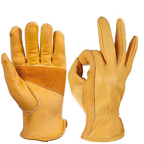 Qbuds Motorradhandschuhe Outdoor Riding Wild Windproof Verschleißfeste Warme Handschuhe Gelb (L(L:19cm W:8.5-9.5cm…