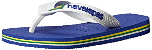 Havaianas Brazil Logo Sandal Flip Flops (Toddler/Little Kid), Marine Blue, 27-28 BR(11, 12 M US Little - Sale Havaiana