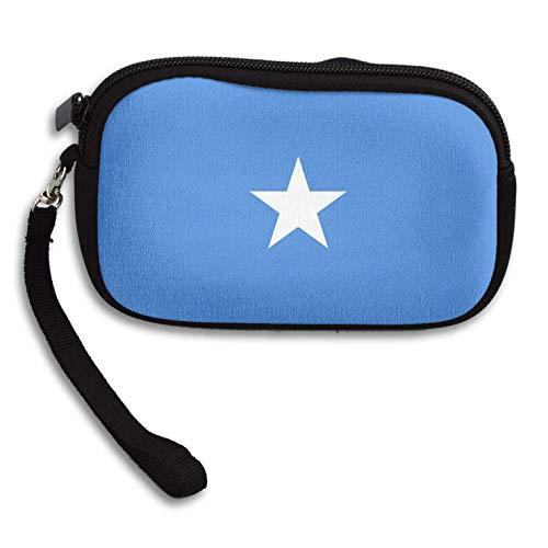 Coin Purse Somalia Flag Zipper Wallet Mini Wristlet Cash Phone Holder Change Pouch