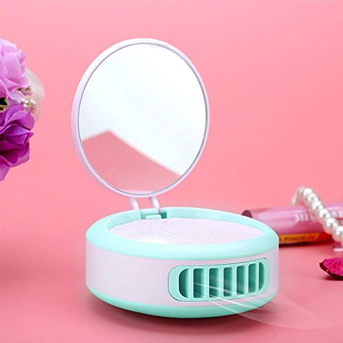 YOUDirect USB Mini Portable Fans - False Eyelashes Dryer Rechargeable Electric Bladeless Handheld Air Conditioning Cooling Refrigeration Fan For EyeSlash Extension, Nail Polish (Blue-Green) by YOUDirect