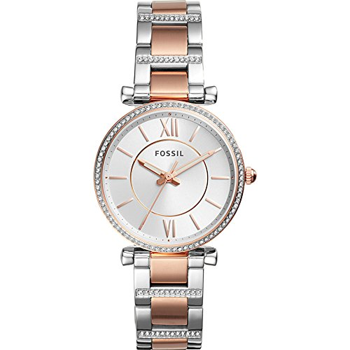 Fossil-Carlie-Three-Hand-Two-Tone-Stainless-Steel-Watch