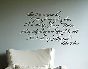 Exceptional Alan Rickman Always Harry Potter Inspired Wall Decal Vinyl Sticker Part 29