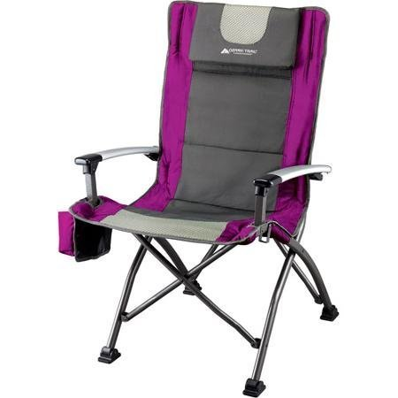 Ozark Trail Ultra High Back Folding Quad Camp Chair Fuchsia (High Backwood Chair)