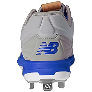 New Balance Men's L3000v3 Metal Baseball Shoe, Grey/Blue, 11.5 D US