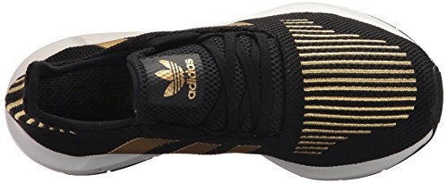 Chaussure De Course Adidas Pour Femme Swift W Black / Gold Metallic / White