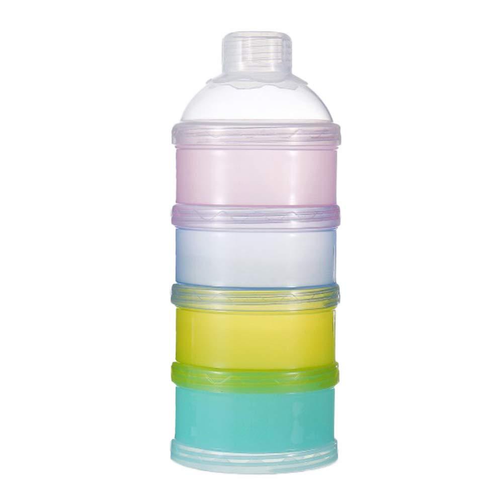 SUPVOX Milchpulver Portionierer Milchpulver Dispenser Formula Behälter 4 Schicht Stapelbar