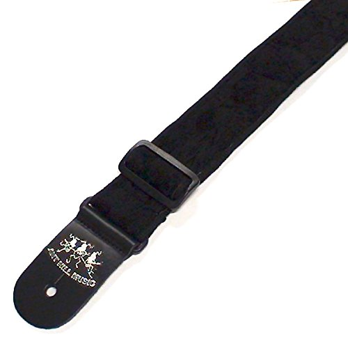 ant-hill-music-guitar-strap-crushed-black-velvet-leather-ends-made-in-usa