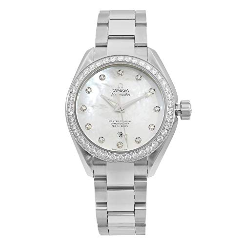 Omega-Seamaster-Aqua-Terra-Automatic-Chronometer-Diamond-Ladies-Watch-23115342055002