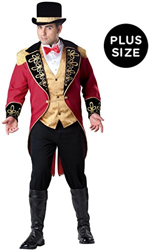 InCharacter Costumes Men's Plus Size Ringmaster Costume, Red Gold/Black, 3X-Large