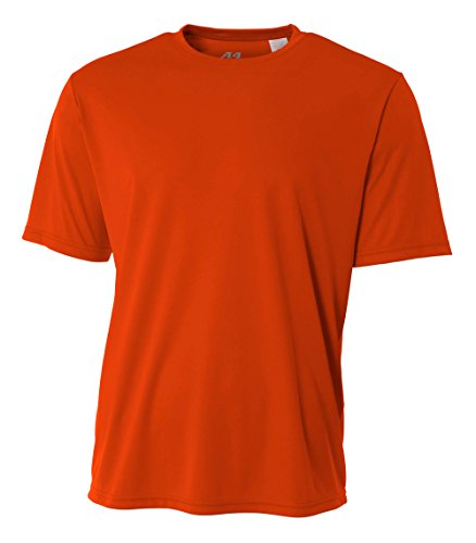 A4 Men's Cooling Performance Crew Short Sleeve, Athletic Orange, Small by A4 (Image #1)