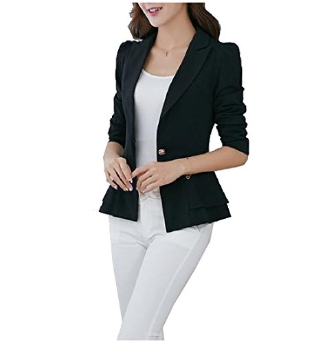 One Button Suit Jacket - 3