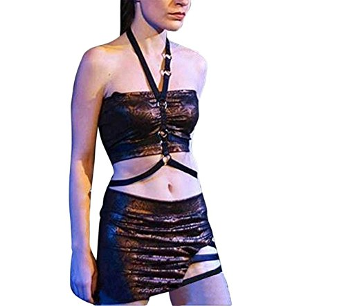 Bradley Smi Sexy Bandage Bra,Women Hollow Out Halter Bra Bustier Top as pictureMedium -