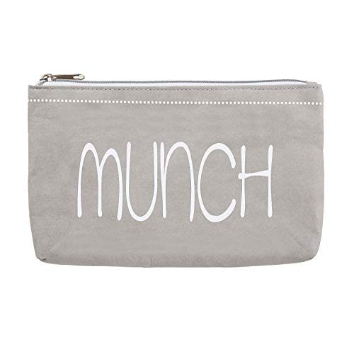 Stephan Baby Washable Paper Medium Zippered Pouch, Munch